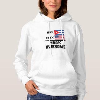 50% Cuban 50% American 100% Awesome Hoodie