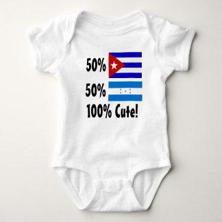50% Cuban 50% Honduran 100% Cute Baby Bodysuit