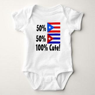 50% Cuban 50% Puerto Rican 100% Cute Baby Bodysuit