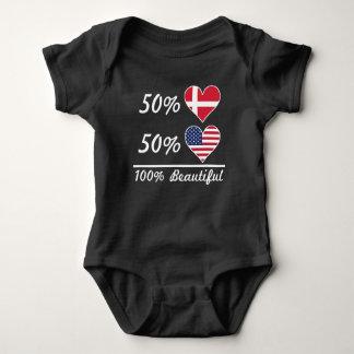 50% Danish 50% American 100% Beautiful Baby Bodysuit