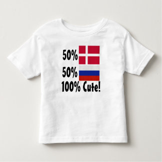 50% Danish 50% Russian 100% Cute Toddler T-shirt