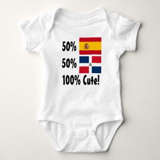 50% Dominican 50% Spanish 100% Cute Baby Bodysuit