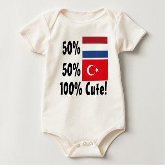 50% Dutch 50% Turkish 100% Cute Baby Bodysuit