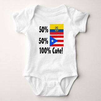 50% Ecuadorian 50% Puerto Rico 100% Cute Baby Bodysuit