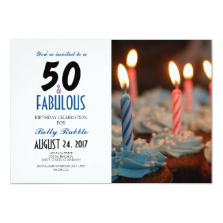 50 & Fabulous 50th Birthday Invitation with Photo