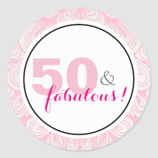 50 & Fabulous 50th Birthday Stickers