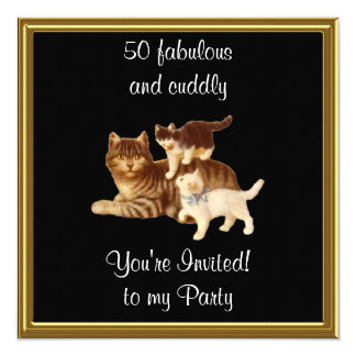 50 Fabulous and cuddly birthday Party Card