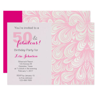50 & Fabulous Birthday Party Invitation
