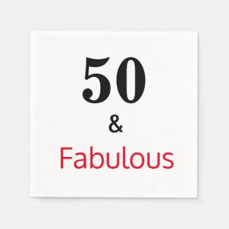 50 &  Fabulous Birthday Party Napkin