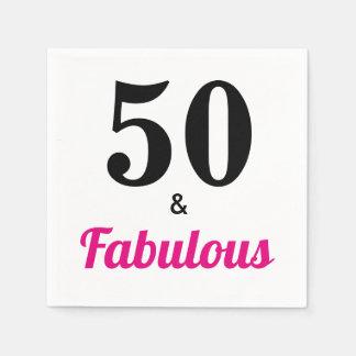 50 &  Fabulous Birthday Party Paper Napkin