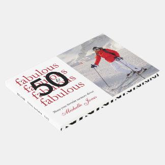 50 & Fabulous – Custom Photo & Name 50th Birthday Guest Book