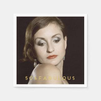 50 & Fabulous | Custom Photo Paper Napkin