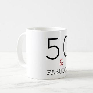 50 & Fabulous Elegant 50th Birthday Gift Coffee Mug