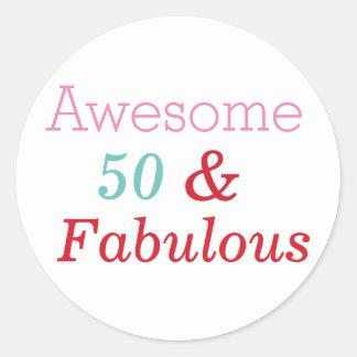 50 & Fabulous Fun 50th Birthday Sticker