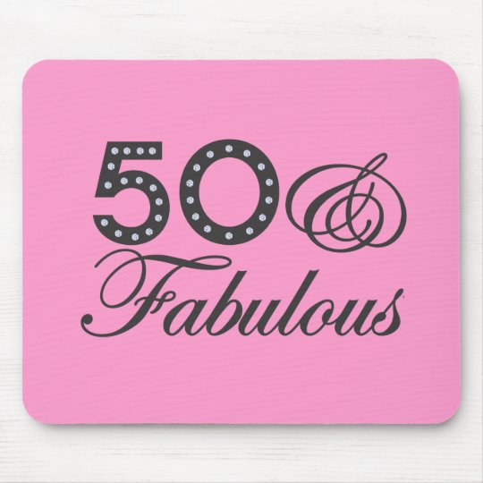 50 & Fabulous Gift Mouse Pad