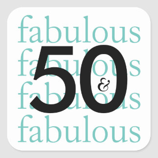50 & Fabulous Milestone Birthday Stickers