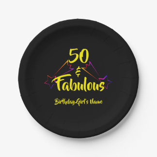 50 & Fabulous - Paper Plate