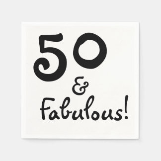 50 & Fabulous Party Paper Napkins