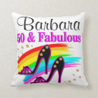 50, FOXY, AND FABULOUS THROW PILLOW