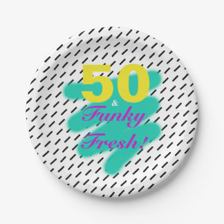 50 & Funky Fresh | Paper Plate