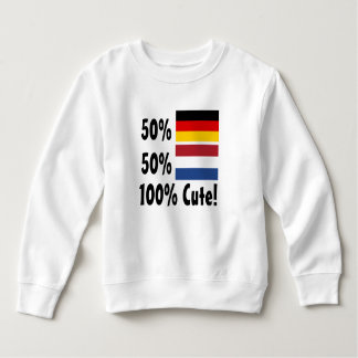 50% German 50% Dutch 100% Cute Sweatshirt
