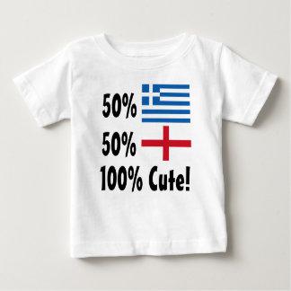 50% Greek 50%  100% Cute English Baby T-Shirt