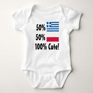 50% Greek 50% Polish 100% Cute Baby Bodysuit