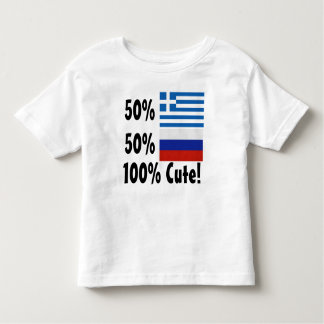 50% Greek 50% Russian 100% Cute Toddler T-shirt