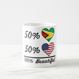 50% Guyanese 50% American 100% Beautiful Coffee Mug