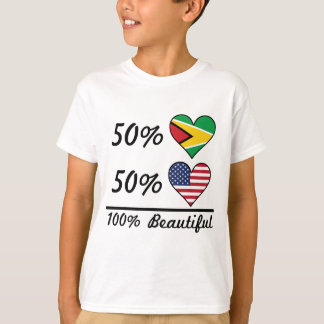 50% Guyanese 50% American 100% Beautiful T-Shirt