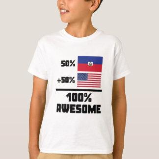 50% Haitian 50% American 100% Awesome T-Shirt