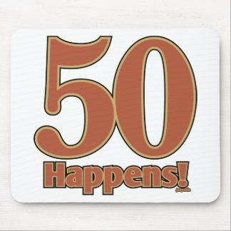 50 happens! - PINK Mouse Pads
