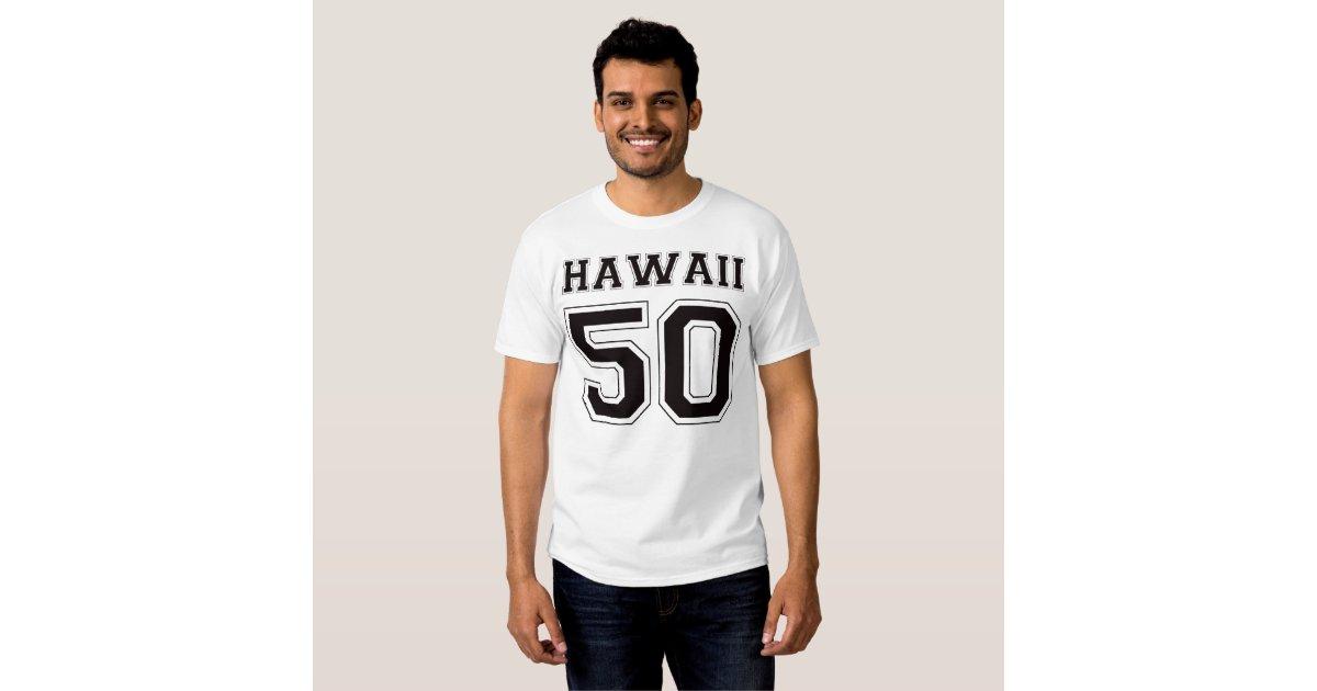 50 hawaii black t shirt zazzle for Hawaii 5 0 t shirt