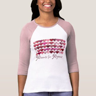 50 Hearts for 50 years! T-Shirt