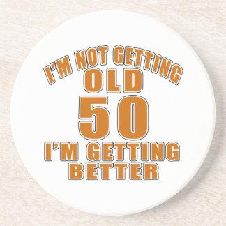50 I Am Getting Better Beverage Coaster