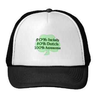 50% Irish 50% Dutch 100% Drunk Trucker Hats