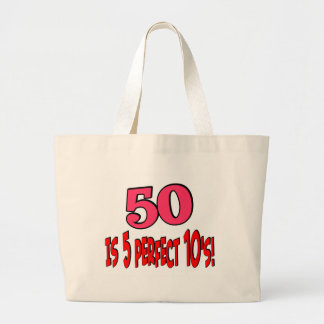 50 is 5 perfect 10s (PINK) Jumbo Tote Bag