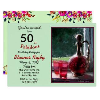 50 is Fabulous 50th Birthday invitation
