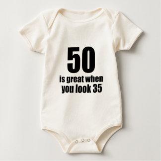 50 Is Great When You Look Birthday Baby Bodysuit