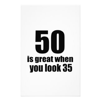 50 Is Great When You Look Birthday Stationery