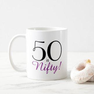 50 is Nifty! 50th Birthday Gift Mug