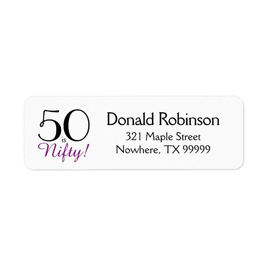 50 is Nifty! 50th Birthday Return Address Label