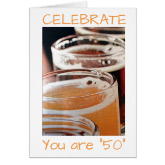 *50* is TIME TO EAT DRINK & BE MERRY Card
