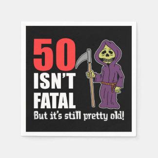 50 Isn't Fatal But It's Still Old Grim Reaper Paper Napkins