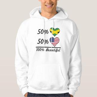 50% Jamaican 50% American 100% Beautiful Hoodie