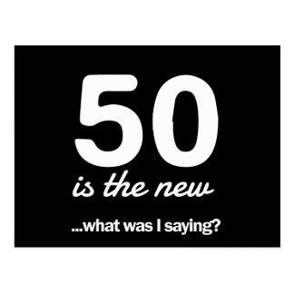 50 le nouveau… ce qui était moi indique-t-il ? carte postale