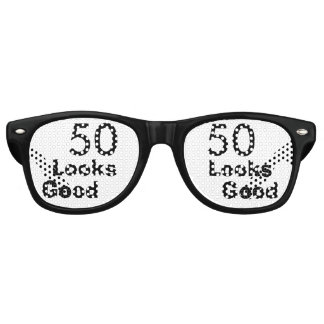 50 Looks Good © Funny 50th Birthday Gag Gift Party Sunglasses
