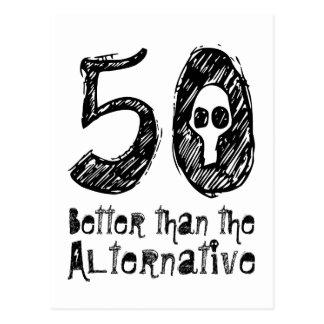 50 meilleur que l'anniversaire drôle vZ4 Cartes Postales