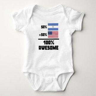 50% Nicaraguan 50% American 100% Awesome Baby Bodysuit