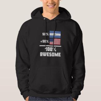 50% Nicaraguan 50% American 100% Awesome Hoodie
